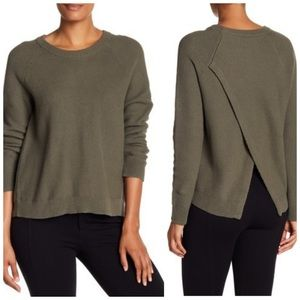 Madewell Green Cross Back Knit Pullover